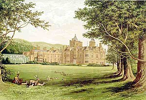 Holker Hall - Holker Hall in 1880