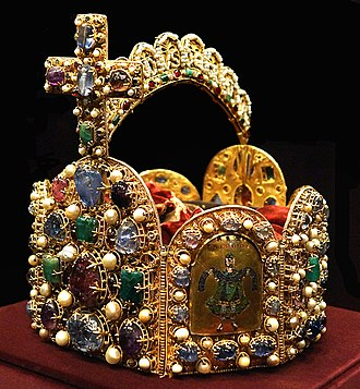 Imperial Crown of the Holy Roman Empire - Imperial Crown of the Holy Roman Empire, kept in the Imperial Treasury at the Hofburg Palace in Vienna