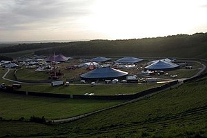 Homelands (festival) - Image: Homelands festival at the foot of Cheesefoot Head geograph.org.uk 15114