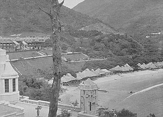 Repulse Bay - Repulse Bay in the 1930s with the Repulse Bay Hotel in the background