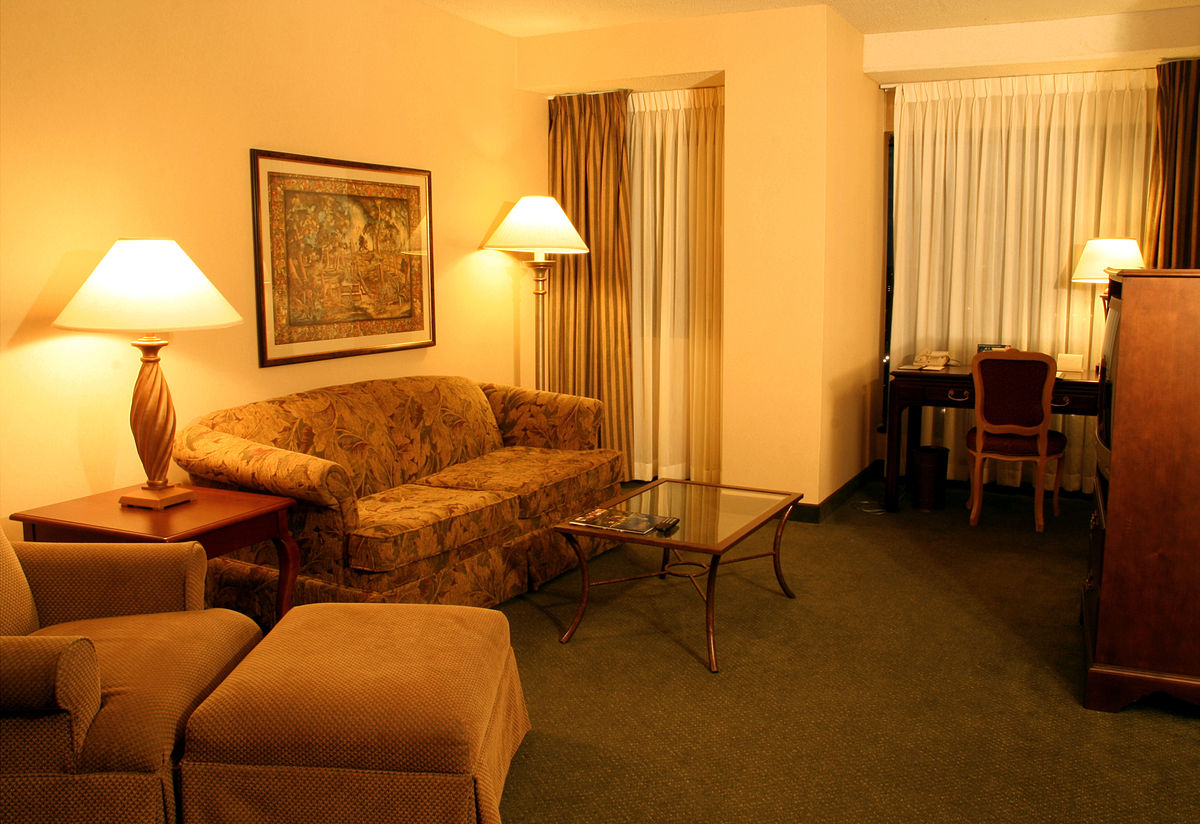 Suite hotel wikipedia for Living room of satoshi review