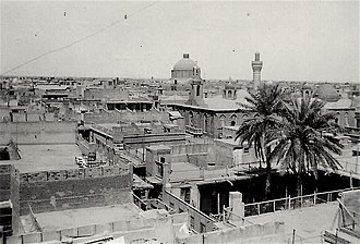 Houses, churche, and mosque at the Shorjah neighborhood, Baghdad, 1942.jpg