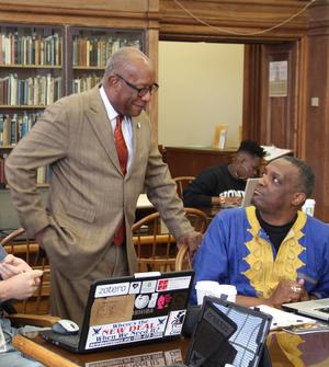 Attendees at the Howard University Black History Edit-a-Thon