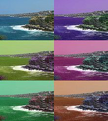 Variazioni di tonalità (a parità di saturazione e luminosità) in una foto