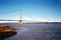 Humber Bridge at high tide - geograph.org.uk - 56139.jpg