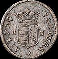Hun II Rakoczi Ferenc Poltura 1704 KB Huszar 1549 obverse.jpg