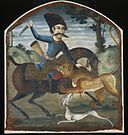 Hunter on Horseback Attacked by a Lion - Google Art Project.jpg