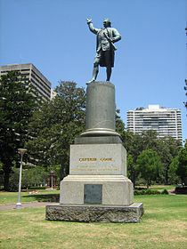 Statue of Captain Cook, Sydney.