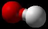 Pilk-kaj-bastona modelo de la nitratjono