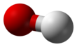 Ball-and-stick model of the hydroxide ion