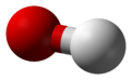 Ball-and-stick model of the nitrate ion