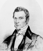 Bust drawing of Hyrum Smith