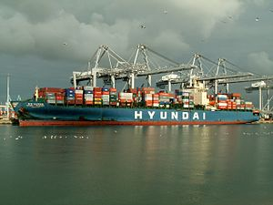 Hyundai Discovery IMO number - 9110391, at the Amazone harbour, Port of Rotterdam, Holland 11-Feb-2006.jpg