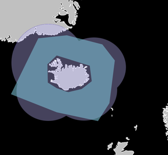 Iceland Air Defence System - Image: IADS RADAR and AD Zone