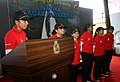 INSV Tarini Skipper Lieutenant Commander Vertika Joshi and her crew.jpg