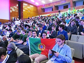 International Physics Olympiad - Students at the opening ceremony of the 2018 IPhO in Portugal
