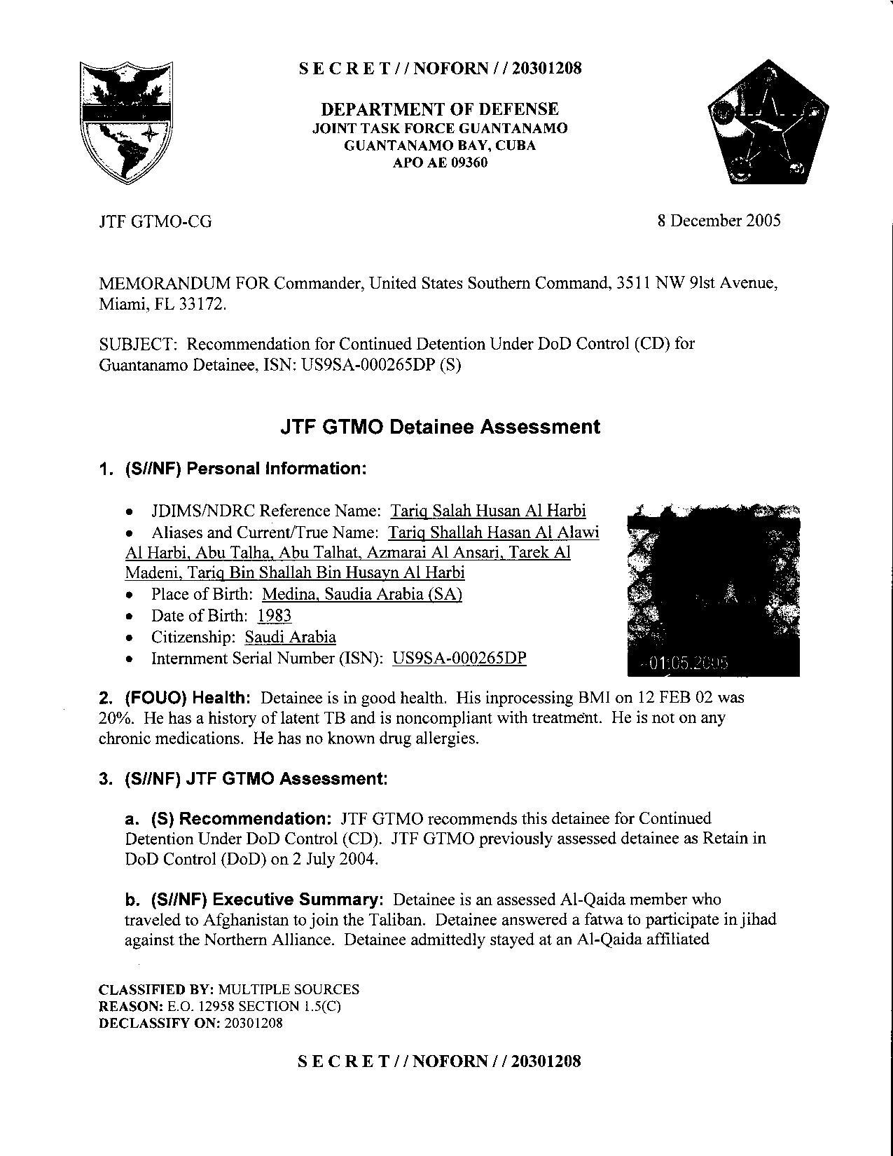 ISN 265's Guantanamo detainee assessment.pdf