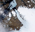 Ice Island calves off Petermann Glacier - Flickr - NASA Goddard Photo and Video.jpg
