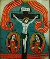 Icon - Jesus Crucifixion, from Glass Icon Collection, no. 1752, Maramureş Museum in Sighet, Romania.tif