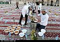 Iftar Serving for fasting people in the holy shrine of Imam Reza 11.jpg