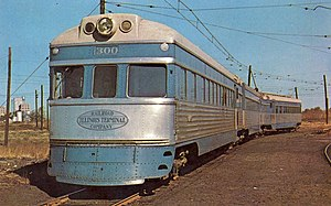 Illinois Terminal Railroad - One of the Streamliners in the early 1950s