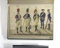 In dienst van het Defensienwezen in 1786- Ulaan, Huzaar, Kurassier van het Legioen van den Rijngraaf van Salm; Kanonier; Musketier van Pallardy (Reg. No. 5) (NYPL b14896507-93301).tiff