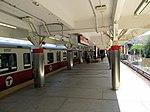 Inbound train from Ashmont at JFK UMass station, July 2013.jpg