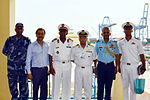 Indian Navy officials with the Chief of the Djiboutian Navy.JPG