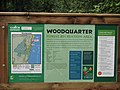 Information sign at Woodquarter forest - geograph.org.uk - 1505954.jpg