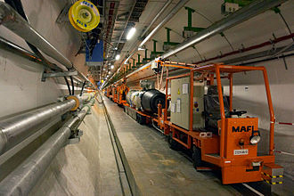 Large Electron–Positron Collider - Image: Inside the CERN LHC tunnel