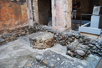 Palace of Cortés, Cuernavaca - Interior courtyard with pre-Hispanic ruins in evidence