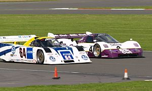 Intrepid RM-1 - An Intrepid RM-1 (left) racing alongside a Jaguar XJR-11 at the Silverstone Classic in 2007.