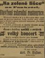 Inzerát Na zelené lišce 1899.png