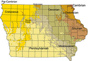 Geology of Iowa - Bedrock formations of Iowa.