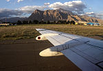 Iran Aseman Airlines Fokker 100 at Kermanshah Shahid Ashrafi Esfahani International Airport.jpg