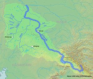 Irtysh River - Irtysh River watershed