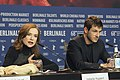 Isabelle Huppert and Gaspard Ulliel - Eva - Press Conference.jpg