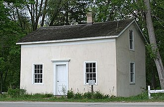 Mequon, Wisconsin - The Isham Day House, built in 1839, is now a museum and city park.