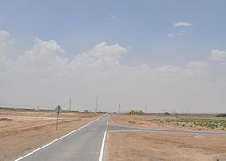 Дорога, ведущая к небольшой базе афганских вооруженных сил в Исламе Калах