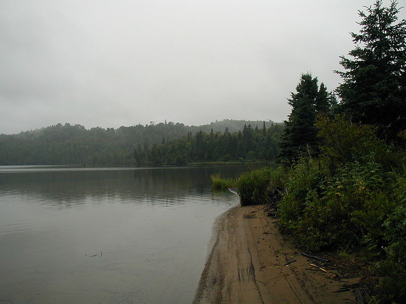 A Beach Near Mouth of Washington Creek on Isle Royale