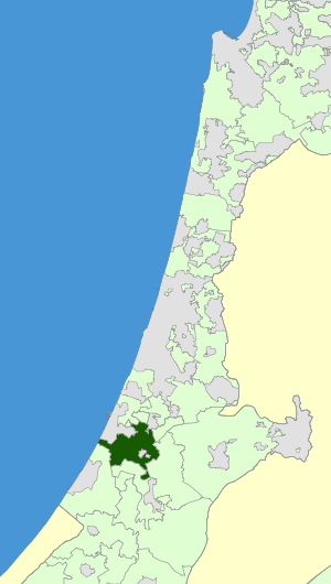 Israel Map - Be'er Tuvia Regional Council Zoomin.svg