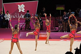 Israel Rhythmic gymnastics at the 2012 Summer Olympics (7915359872).jpg