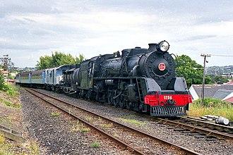 NZR J class (1939) - J 1234 in Avondale, Auckland.
