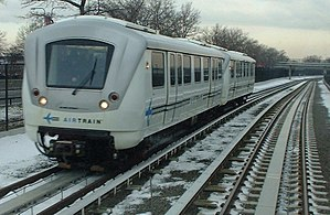 Linear motor - These LRT trains propel themselves using an aluminium induction strip placed between the rails.