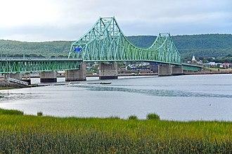 Campbellton, New Brunswick - J. C. Van Horne Bridge crossing between Campbellton and Pointe-à-la-Croix, Quebec