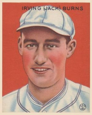 Jack Burns (first baseman) - Image: Jack Burns Goudeycard