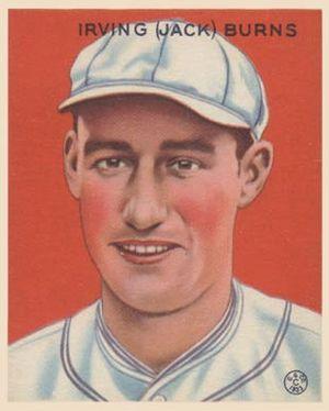 Jack Burns (first baseman) - Image: Jack Burns Goudeycard