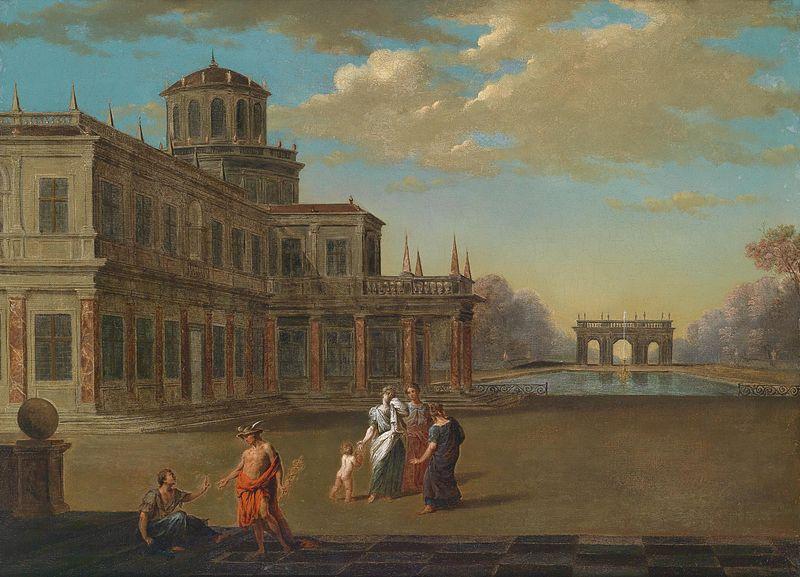 Файл: Jacob Ferdinand Saeys Barocker Palast mit Park.jpg