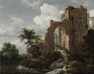 The Jewish Cemetery - Image: Jacob van Ruisdael Ruins of Brederode