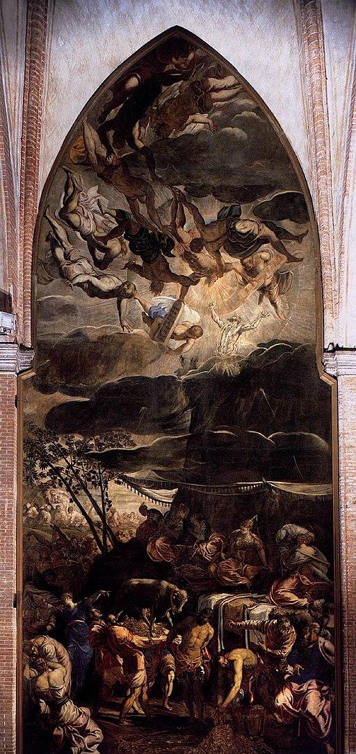 Jacopo Tintoretto - The Worship of the Golden Calf - WGA22463